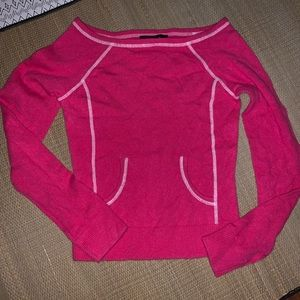 Express Cashmere Sweater XS Pink Crew Neck